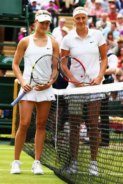 kvitova bouchard pose final wimbledon