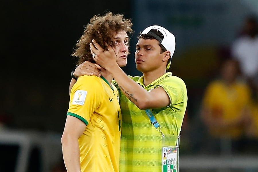 David Luiz crying