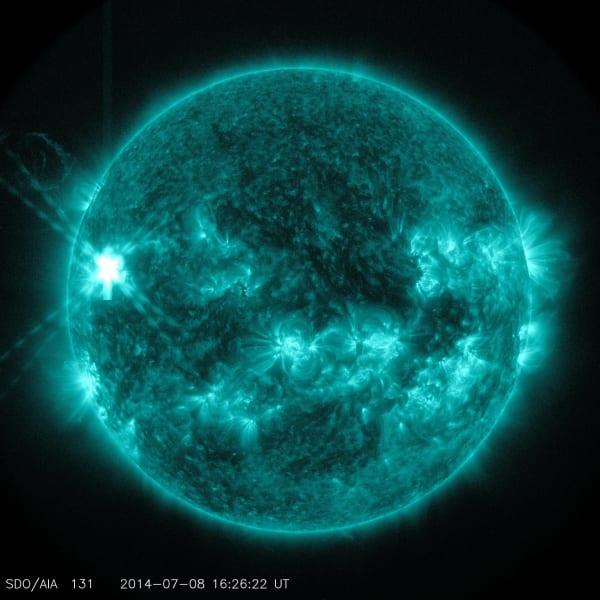 solar flare 2 july 2014
