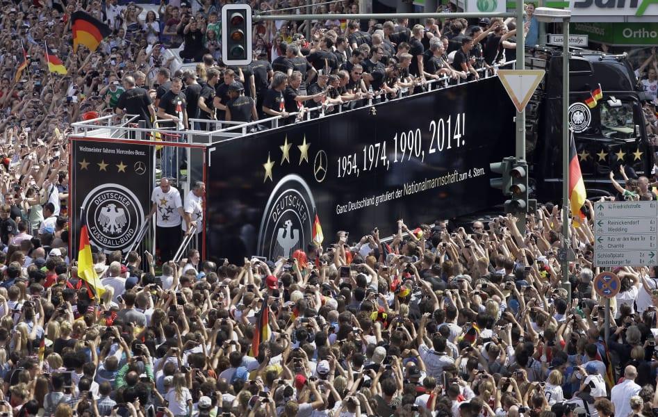 German football team parade