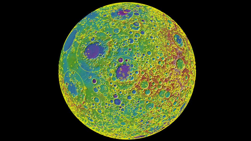 lunar topographic map