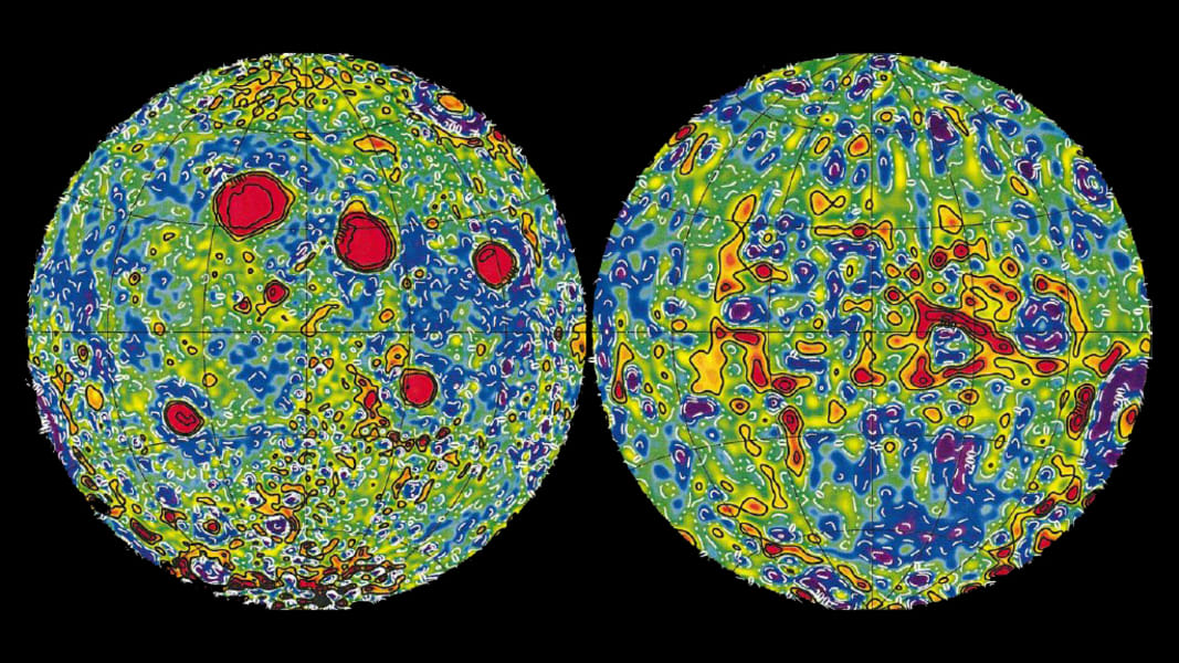 lunar gravity map