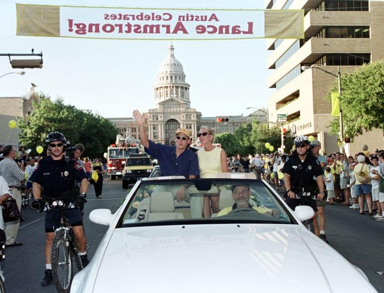 Lance Armstrong parade 1999