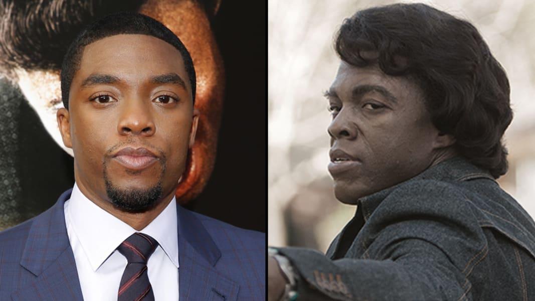 Chadwick Boseman James Brown split