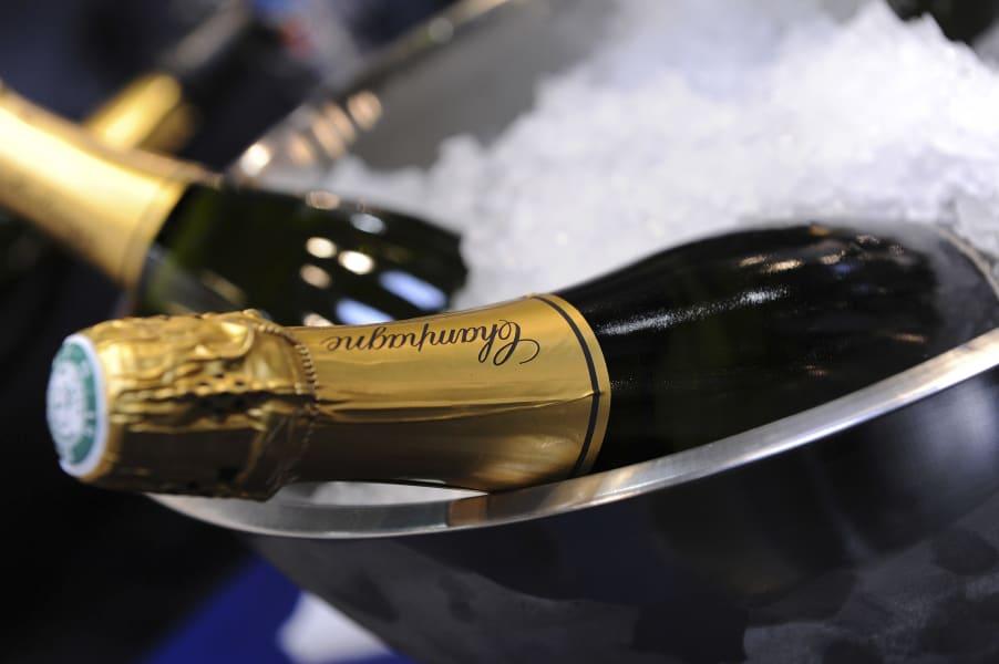 Nigerian wedding Champagne
