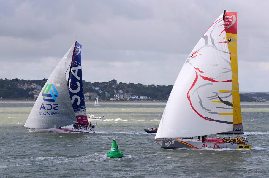 volvo ocean race aerial