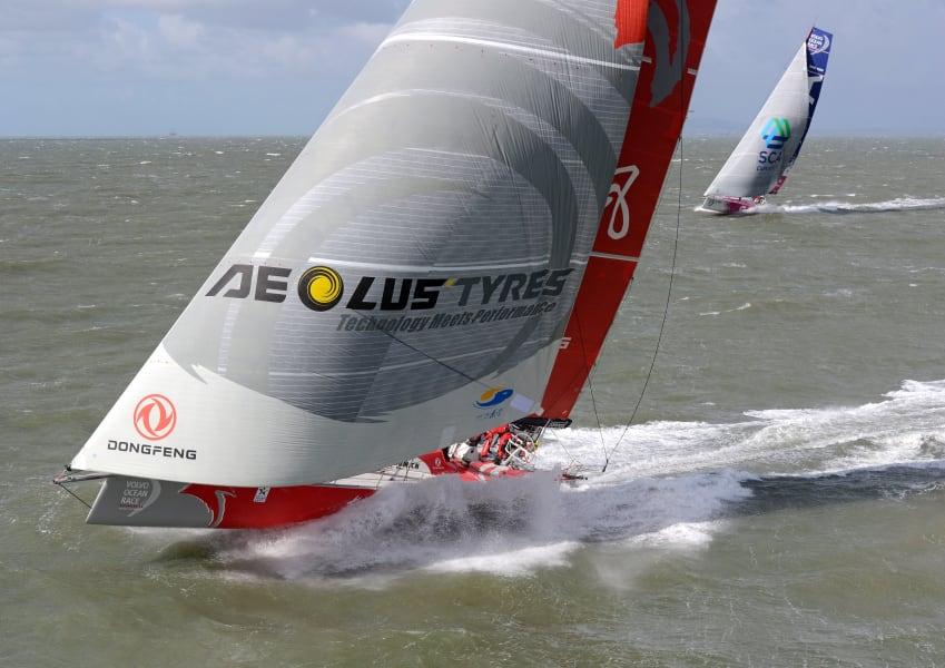 volvo ocean race aerial sail
