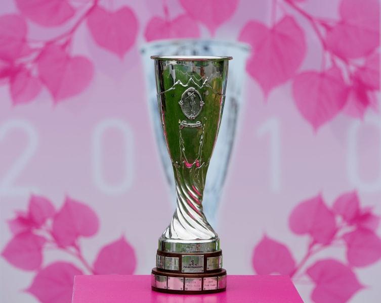 Evian Championship trophy 3