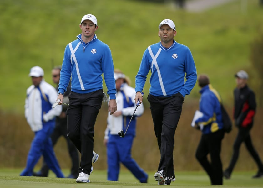 ryder cup day one garcia mcilroy foursomes