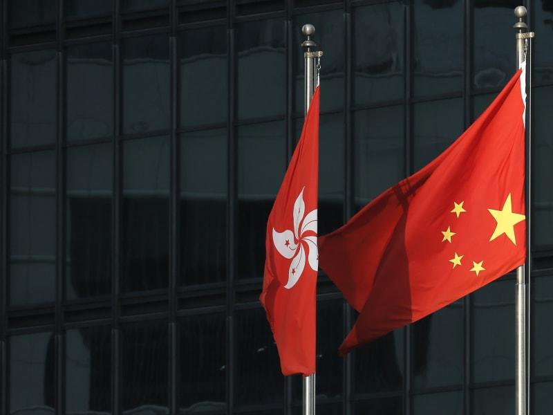 upside down chinese flag hong kong