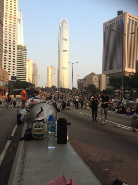 hk protest tuesday morning