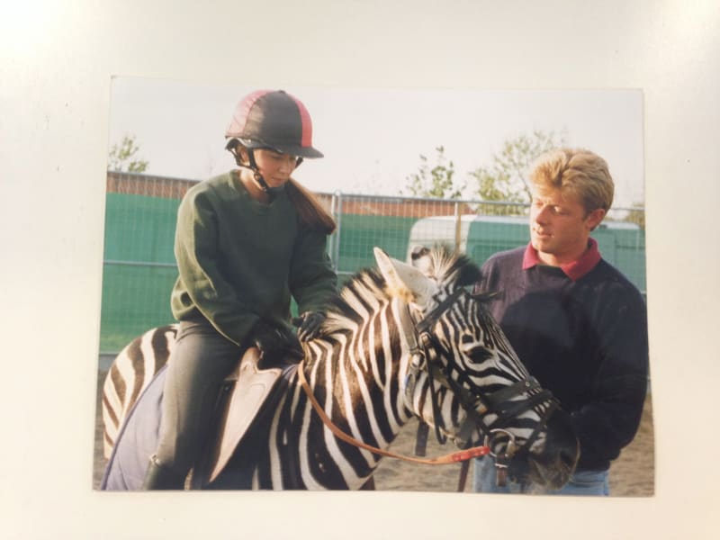 girl riding zebra 2