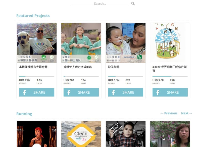 Likefunding.me featured projects