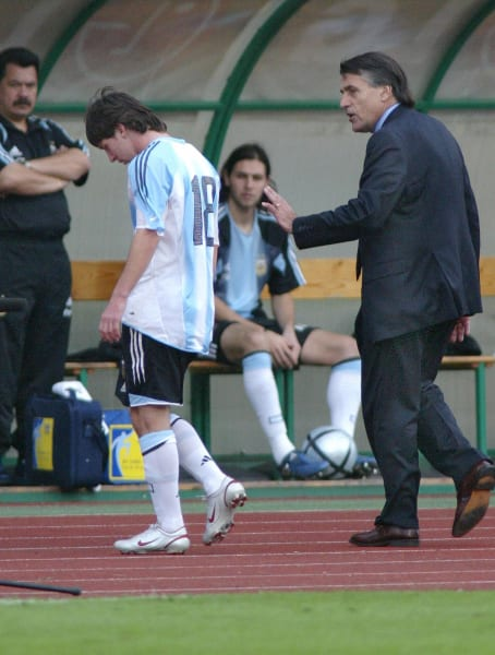 messi argentina debut 17 august 2005 hungary
