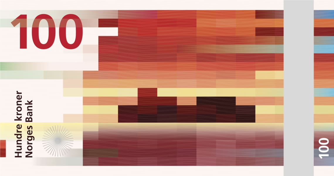 norway pixelated banknote