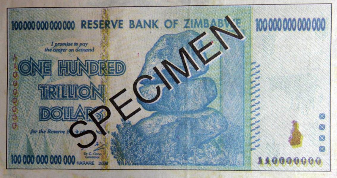zimbabwe trillion dollars