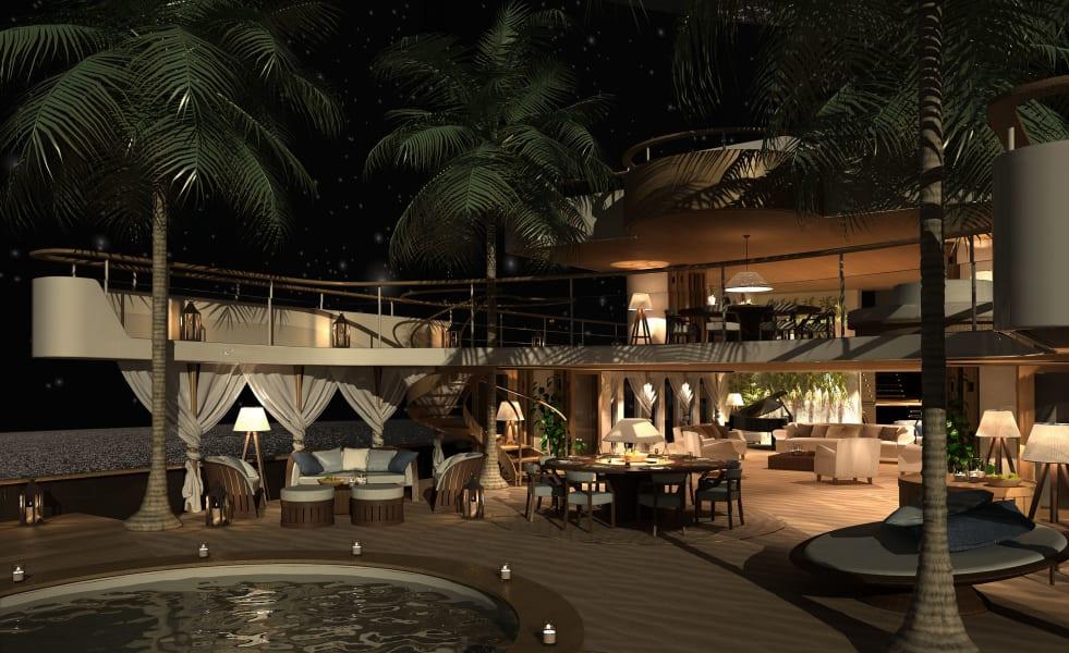 superyacht future beach club decking