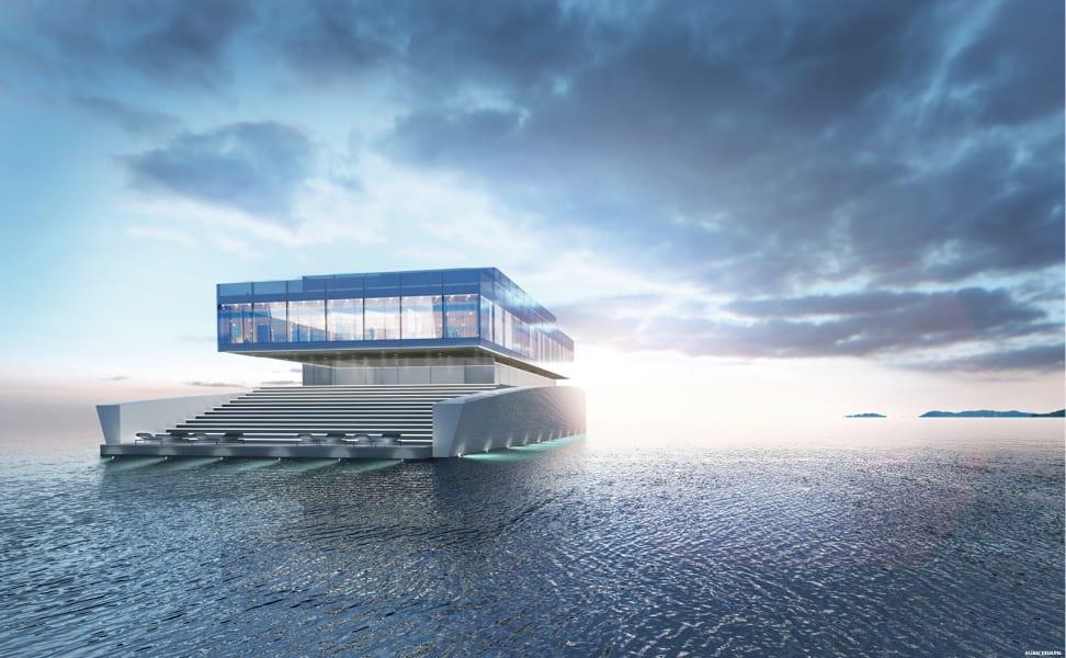 Glass superyacht