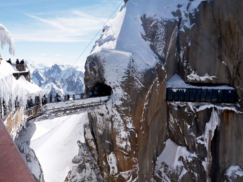 footbridge aguille du midi