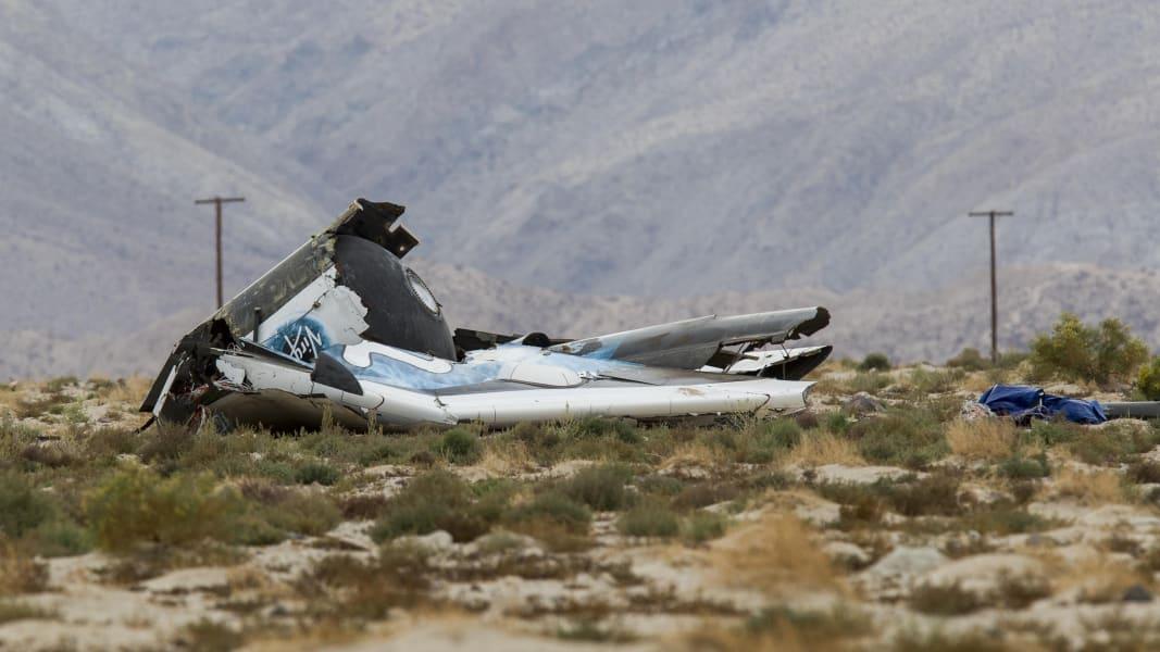 Wreckage of Virgin Galactic