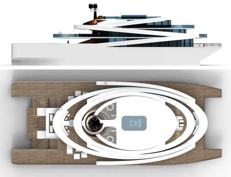 symphony superyacht aerial
