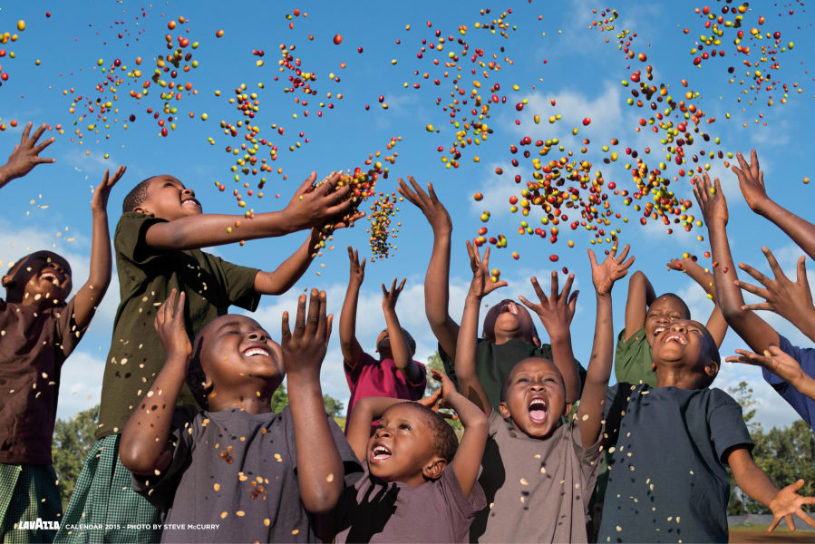 12. Future in our hands. LAVAZZA CALENDAR 2015. Earth Defender - the children in Father Peter's school