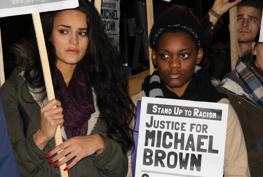 Protesters London to Ferguson