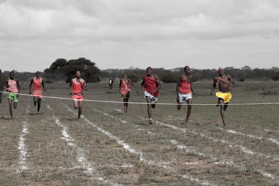 Maasai Olympics sprint