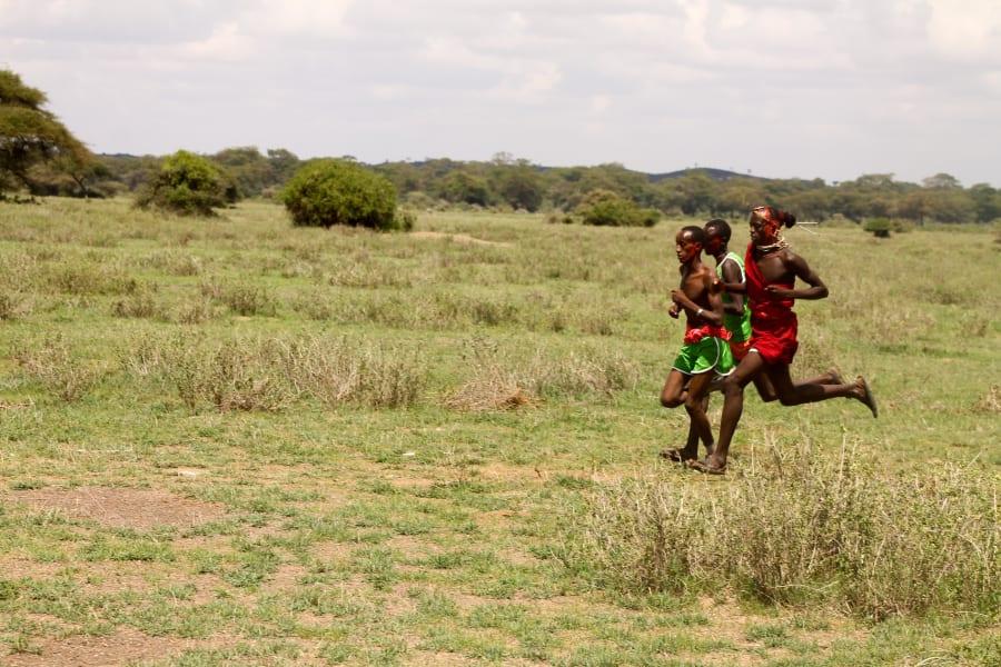 Maasai running