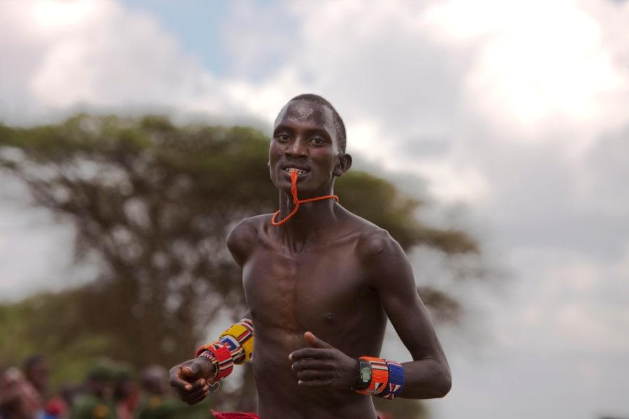 Maasai running look