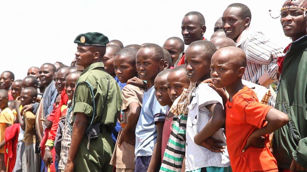 Maasai tribe crowd olympics