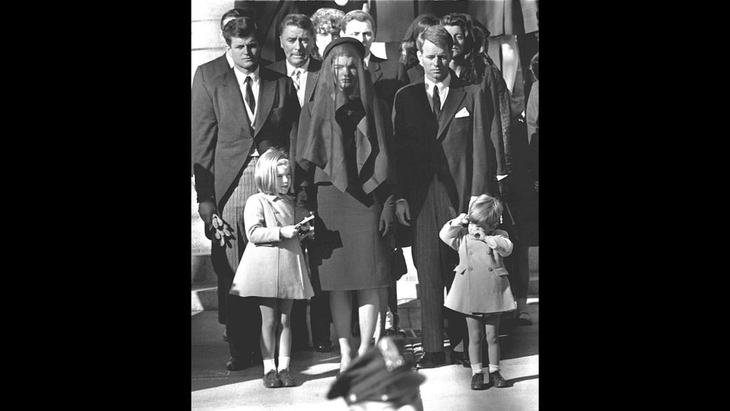 jackie at jfk funeral