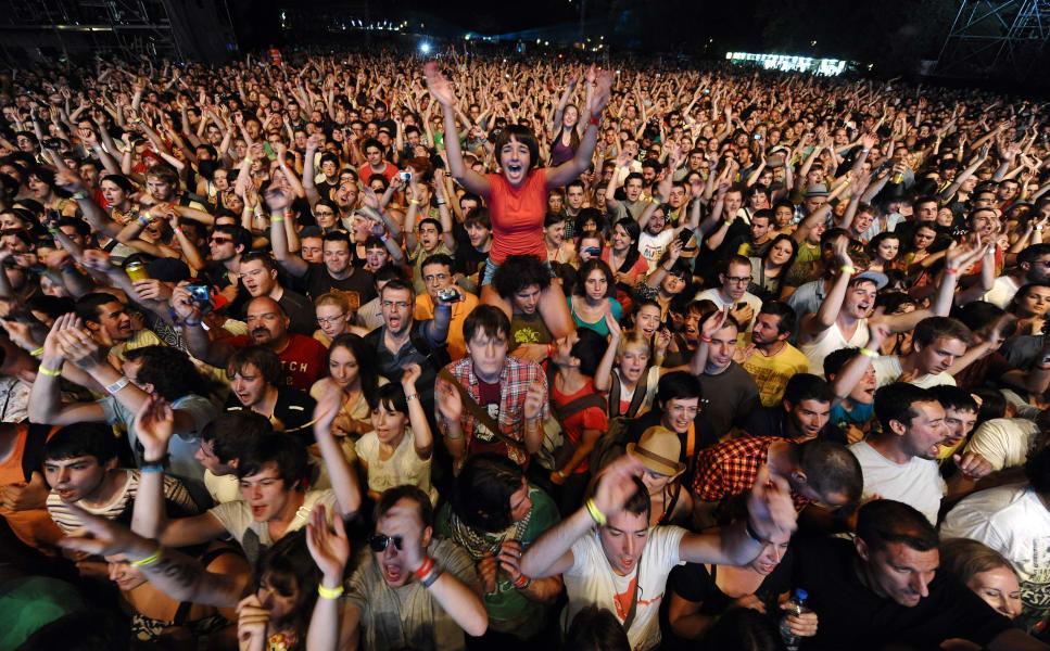 exit festival crowd