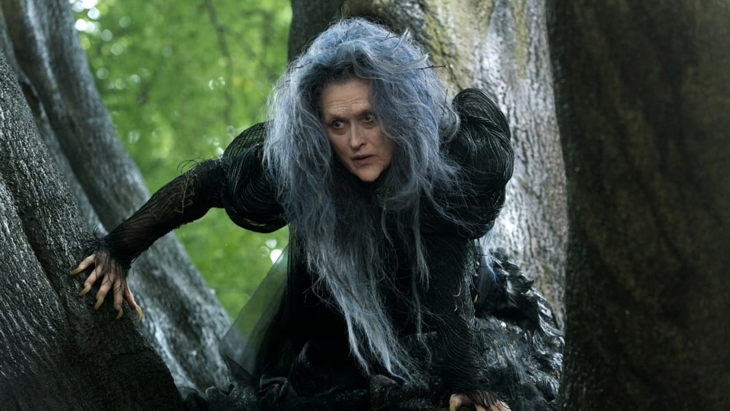 Into the Woods movie still Streep