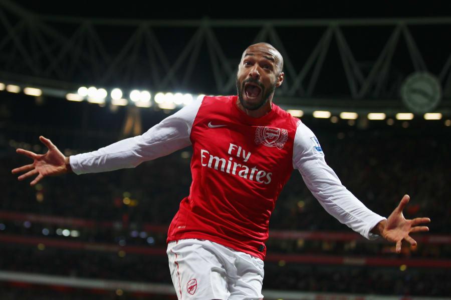 henry arsenal 2012 return goal celebrate
