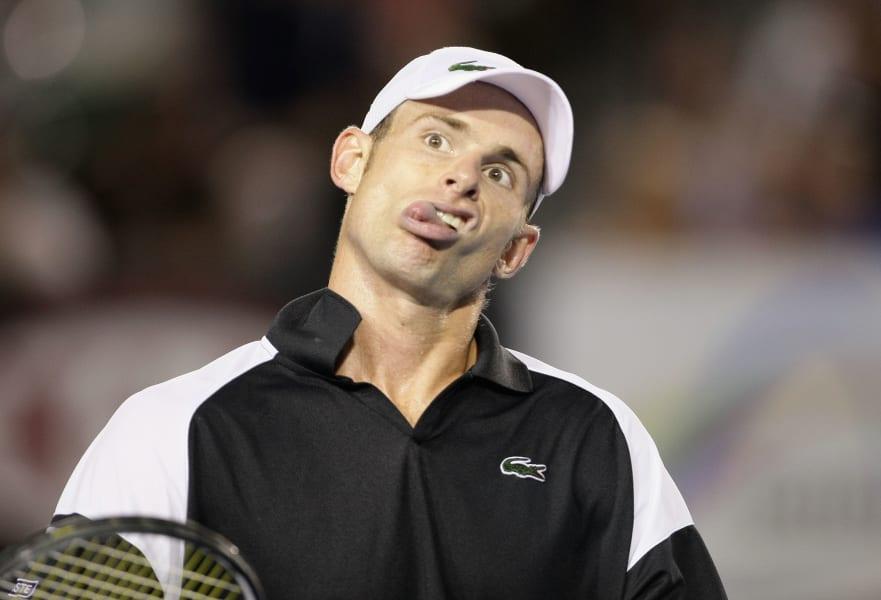 Roddick face umpire