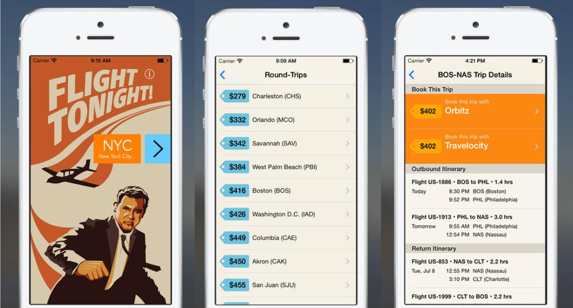 travel tech flight tonight app
