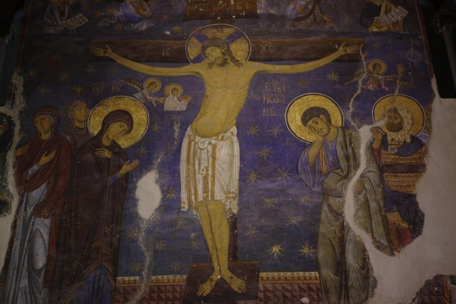 studenica monastery church jesus on the road serbia