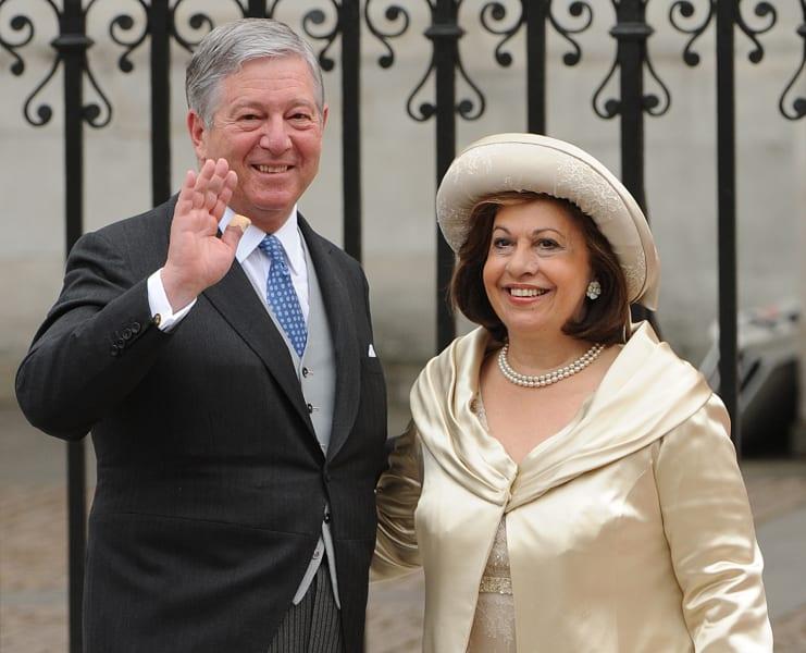 Crown Prince Alexander II of Serbia and Crown Princess Katherine westminster