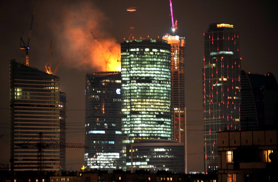 arch federation tower vostok fire