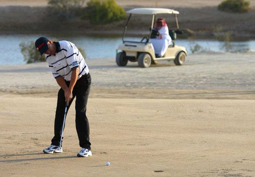 Padraig Harrington Abu Dhabi World Sand Golf Championships