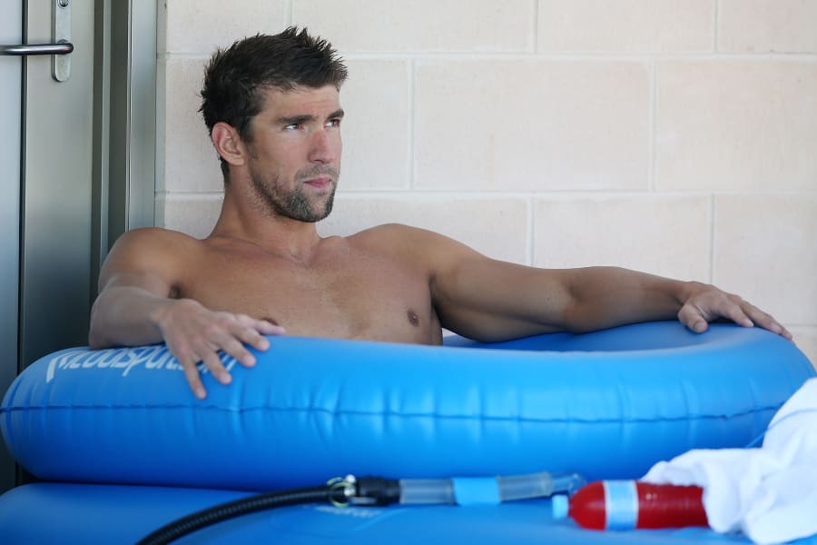 phelps ice bath