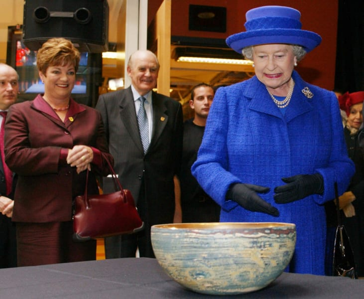 queen elizabeth bowl gift