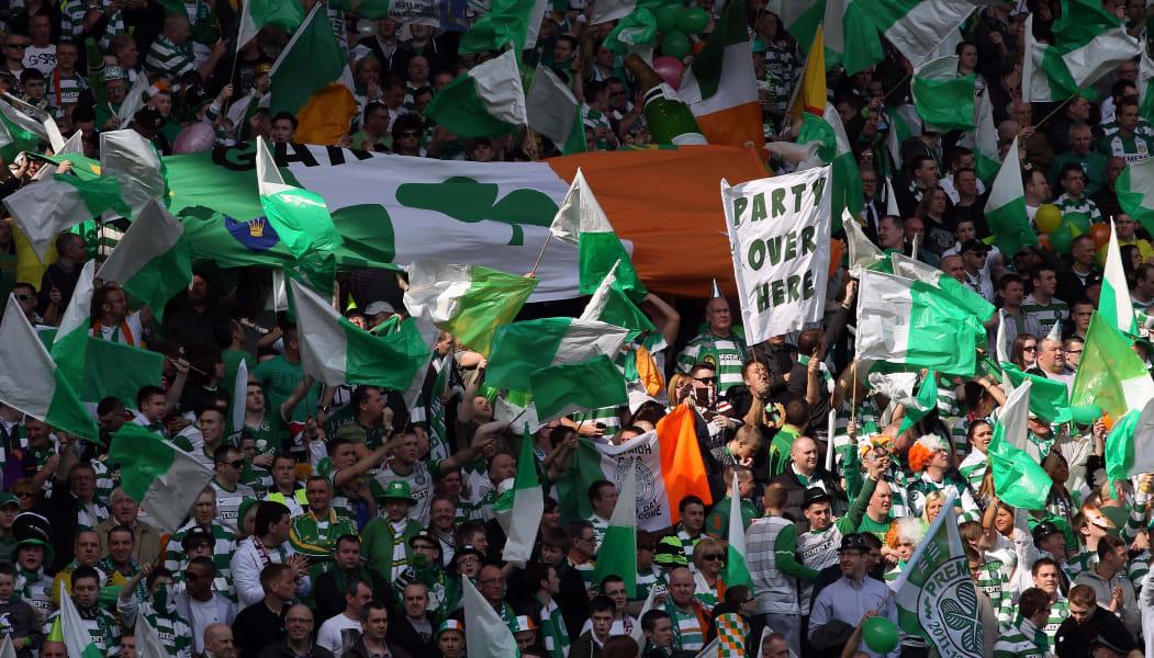 celtic fans flags