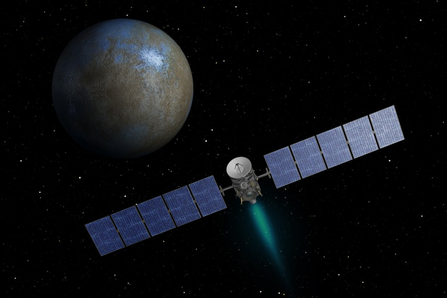 dawn spacecraft approach ceres artist concept