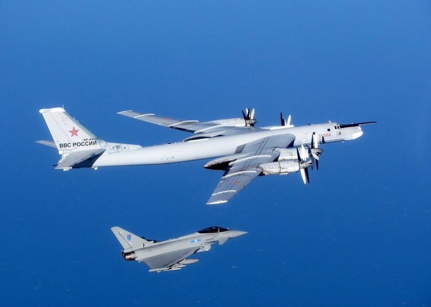 UK Typhoon Russian Bear bomber
