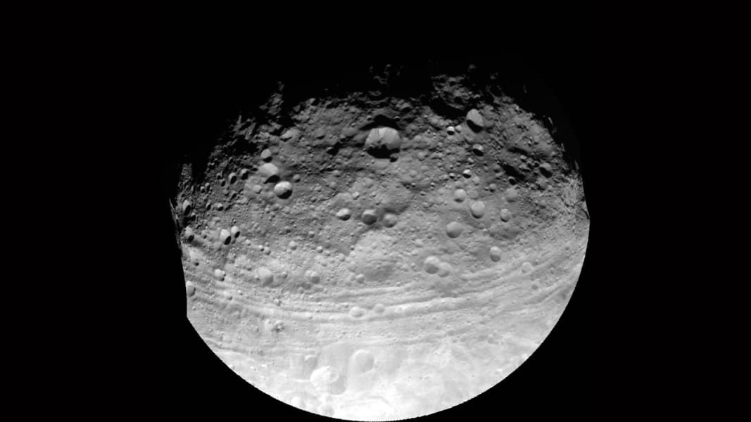 vesta asteroid surface