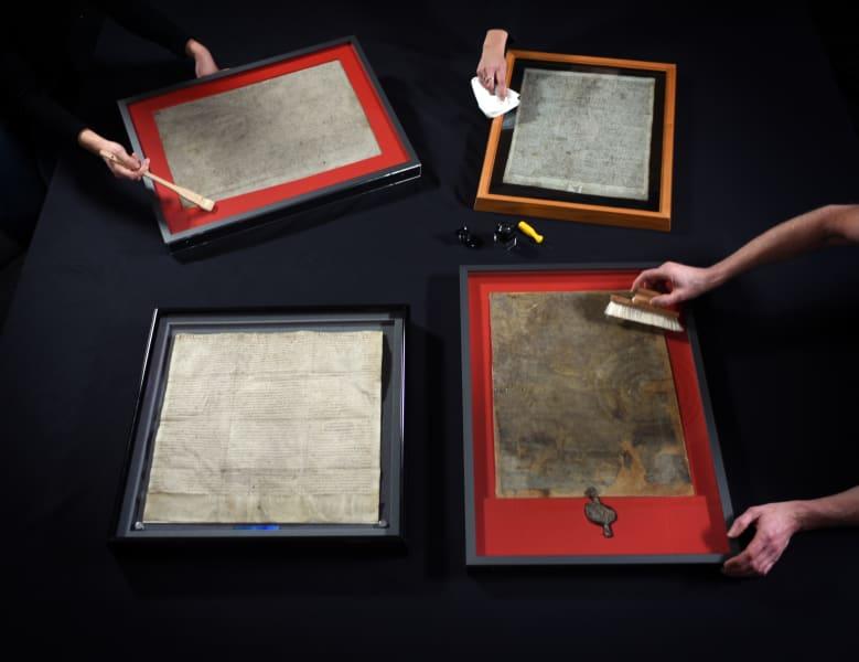 Magna Carta four copies 1