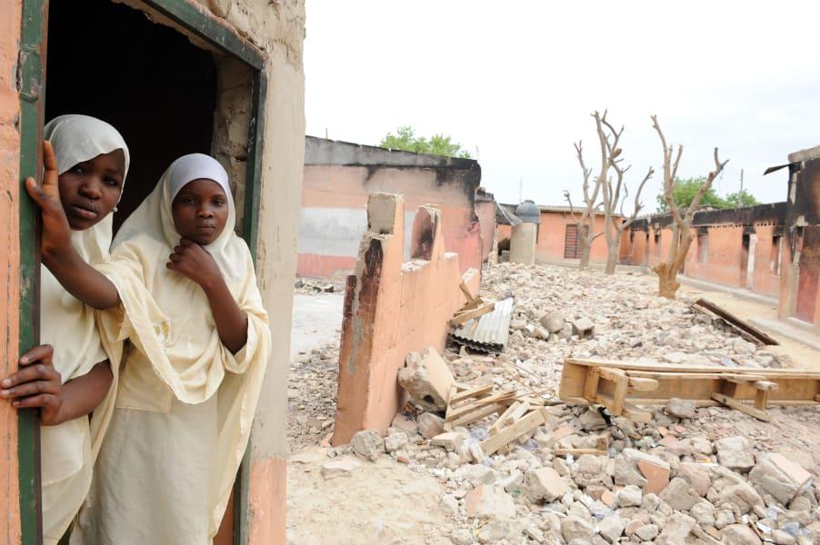 Nigeria Election Burnt down school Maiduguri  PIUS UTOMI EKPEI AFP GettyImages