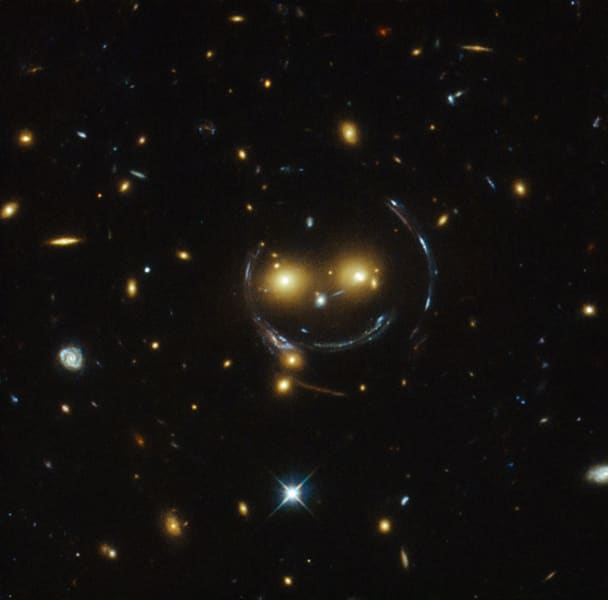 Hubble galaxy smiley face